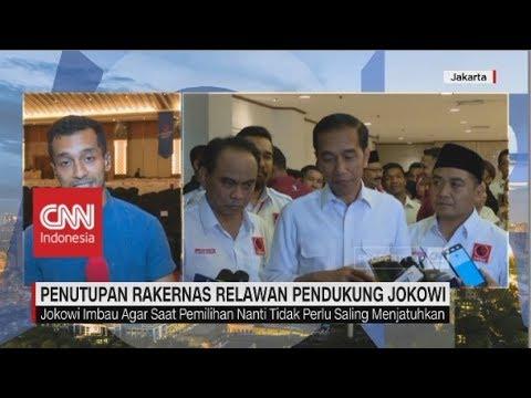 Jokowi: Relawan Projo itu Bukan Relawan Kardus; Penutupan Rakernas Relawan Pendukung Jokowi