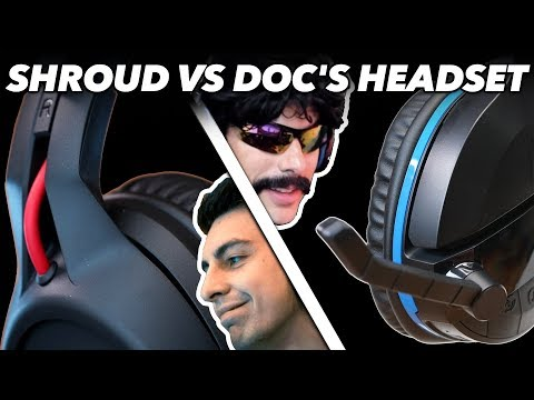 Shroud's Headset Vs. Dr DisRespect's Headset: We Try Gaming Headsets Used By Pro Gamers in Fortnite