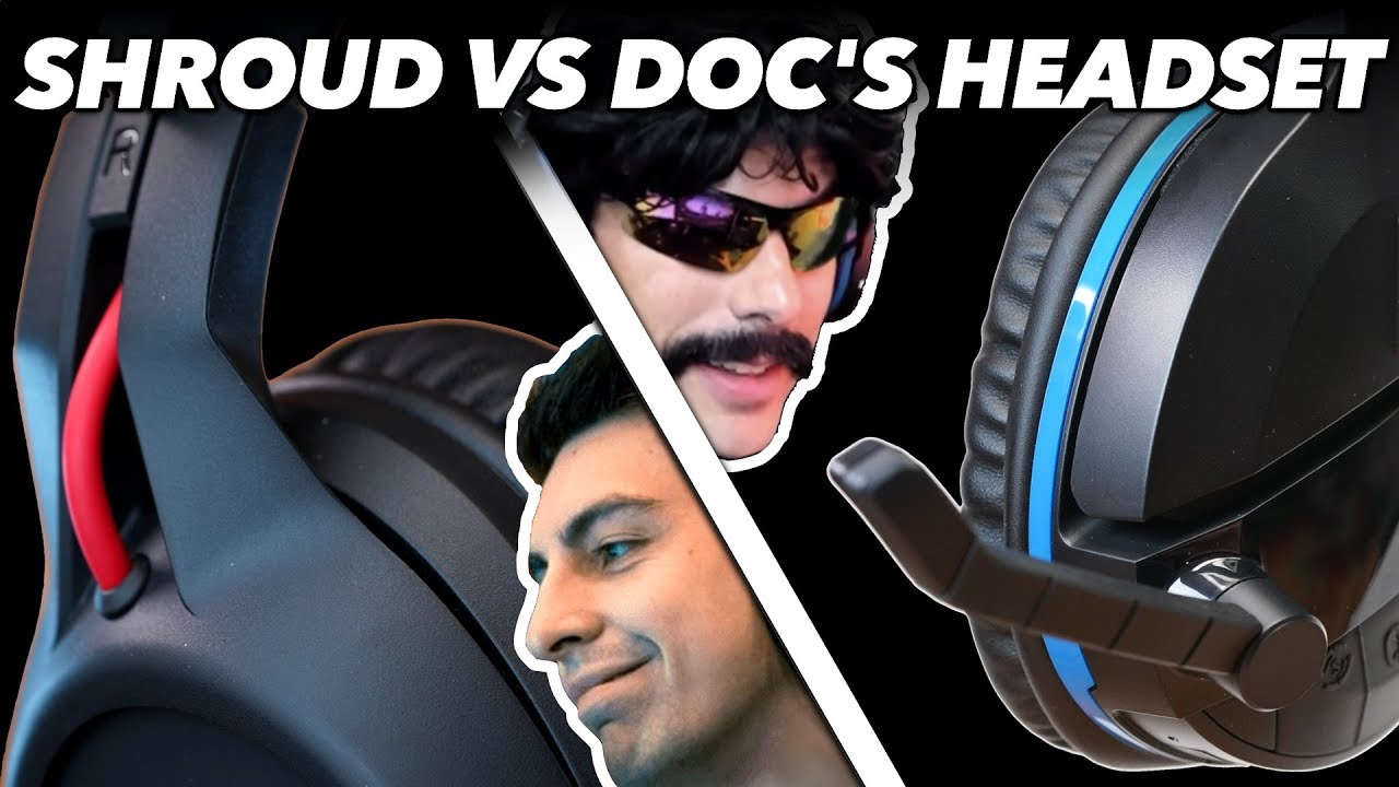 Shroud's Headset Vs. Dr DisRespect's Headset: We Try Gaming Headsets Used By Pro Gamers in