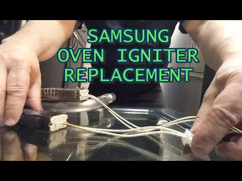 Replacing the Oven Igniter in a Samsung Gas Range - Model FX710BGS