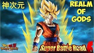 Hardest SBR Stage?! Transforming Goku Realm of Gods Showcase: DBZ Dokkan Battle