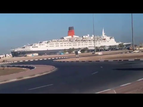 Queen Elizabeth 2 Cruise Ship at Port Rashid Dubai