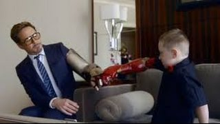 The Collective Project- Robert Downey Jr. Delivers a Real Bionic Arm