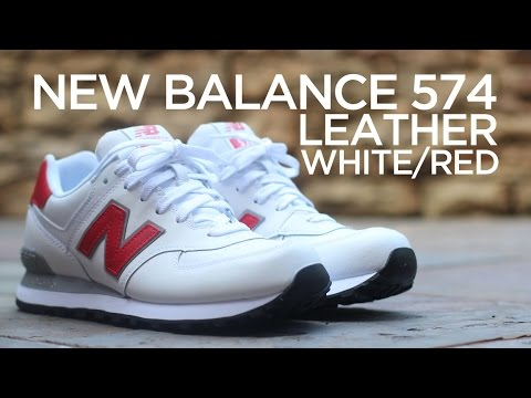 wholesale dealer 6843e c3e4f Closer Look: New Balance 574 Leather - White/Red