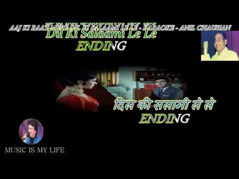Aaj Ki Raat Mere Dil Ki Salami Le Le Karaoke With Scrolling Lyrics Eng. & हिंदी