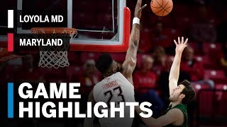 Highlights: Loyola MD at Maryland | Big Ten Basketball