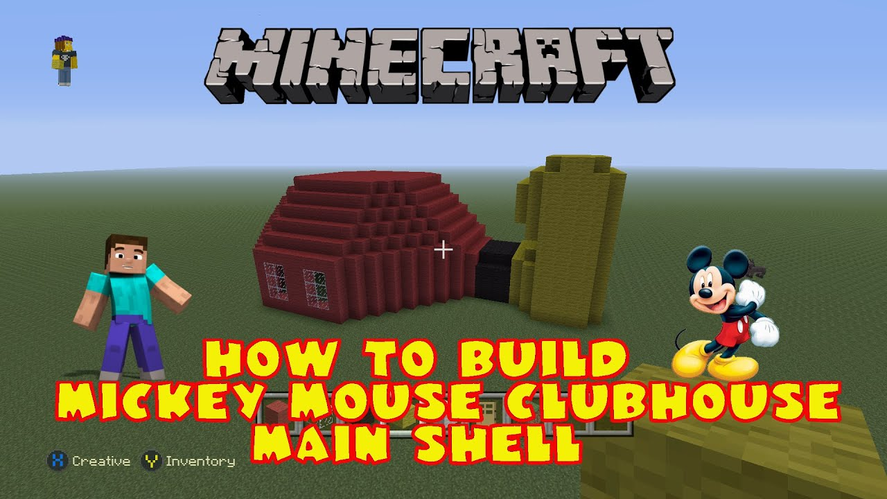 Minecraft How To Build Mickey Mouse Clubhouse Remade Part 1 Main Shell  YouTube