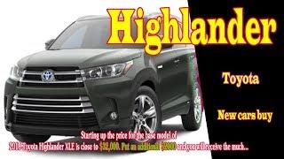 2019 Toyota Highlander xle price | 2019 Toyota Highlander xle v6 | 2019 Toyota Highlander xle awd
