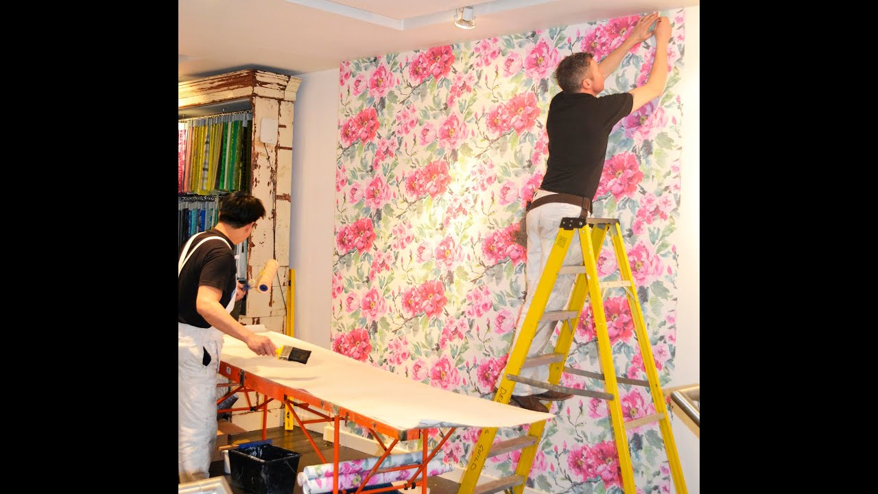 How To Wallpaper Your Wall With Designers Guild   YouTube