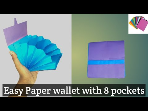 origami paper craft: how to make a paper wallet with 8 pockets|| easy and simple|| DIY paper wallet