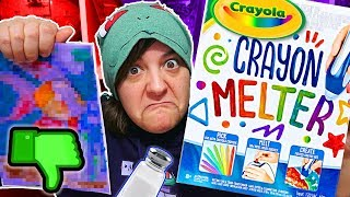 DON'T BUY! 16 REASONS WHY CRAYOLA CRAYON MELTER Kit is NOT worth it SaltEcrafter #39