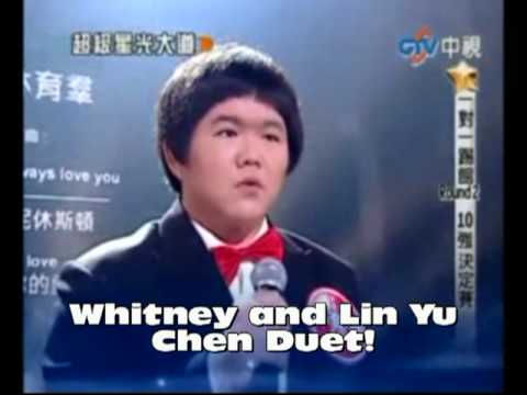 "Taiwanese Lin Yu Chun DUETS WITH  Whitney Houston's ""I Will Always Love You"" LIVE"