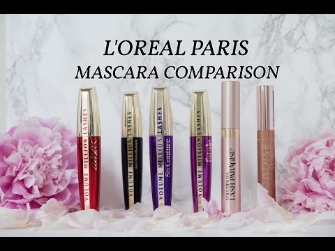 LOreal mascara comparison video