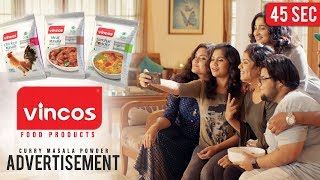 Vincos Food Products  Curry Masala Powder Advertisement  45 Seconds