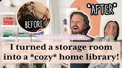 STORAGE ROOM TURNED HOME LIBRARY | *EPIC* DIY TRANSFORMATION