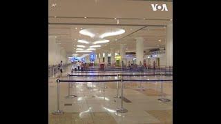 受新冠疫情影响大 迪拜机场显冷清