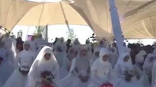 Массовая свадьба 199 пар в Грозном