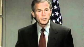 George W. Bush speaking on the morning of September 11, 2001