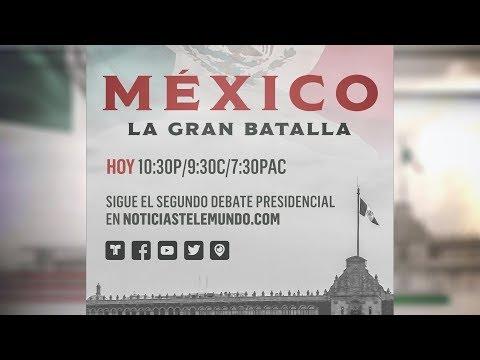 EN VIVO: Segundo debate de los candidatos a la presidencia de México