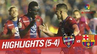 Resumen de Levante UD vs FC Barcelona (5-4)