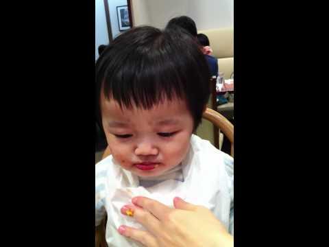 Hato eats an Okosama lunch
