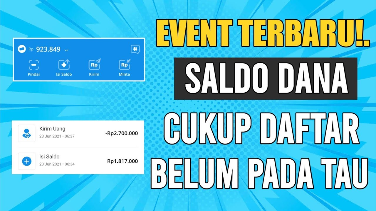 EVENT BARU LAGI | APLIKASI PENGHASIL SALDO DANA TERCEPAT ...