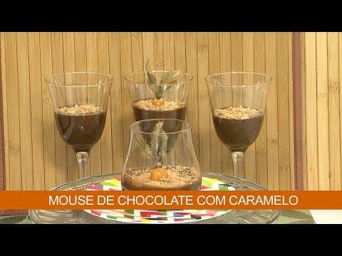 MOUSE DE CHOCOLATE COM CARAMELO