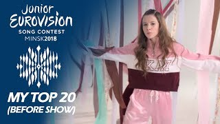 Junior Eurovision 2018 | My Top 20 (Before The Show)