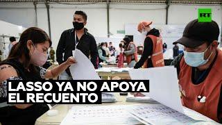 Lasso ya no apoya el recuento en 17 provincias de Ecuador pese al pacto con Pérez