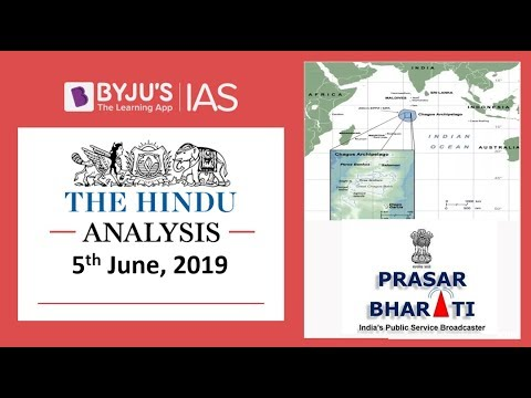 'The Hindu' Analysis For 5th June, 2019  (Current Affairs For UPSC/IAS)