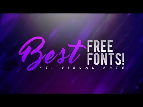 BEST FREE Fonts to Use for YOUTUBE Thumbnails/Banners/Logos & More! (2016/2017)
