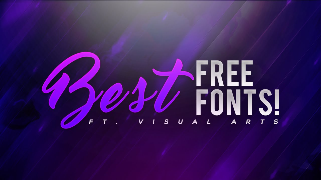 Best free fonts to use for youtube thumbnails banners for Best modern logos 2016