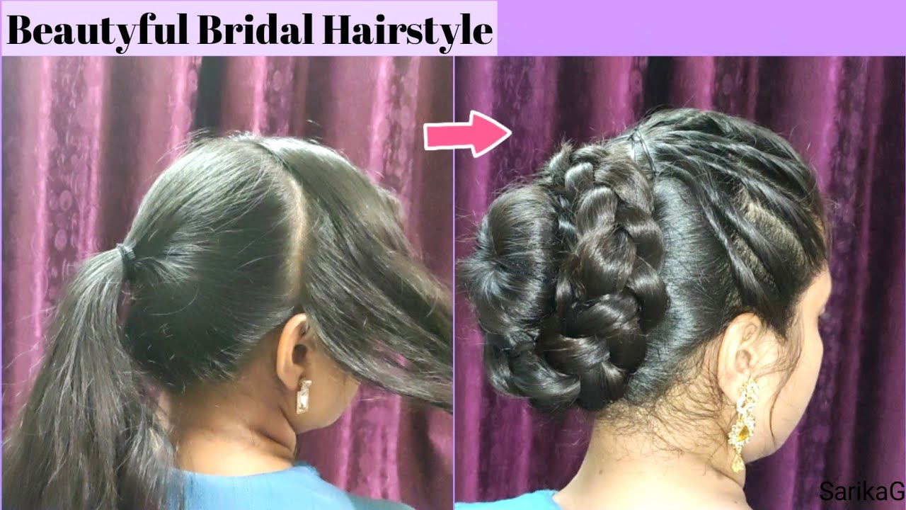 Classy Juda Hairstyle for Wedding/Party/Functions - YouTube