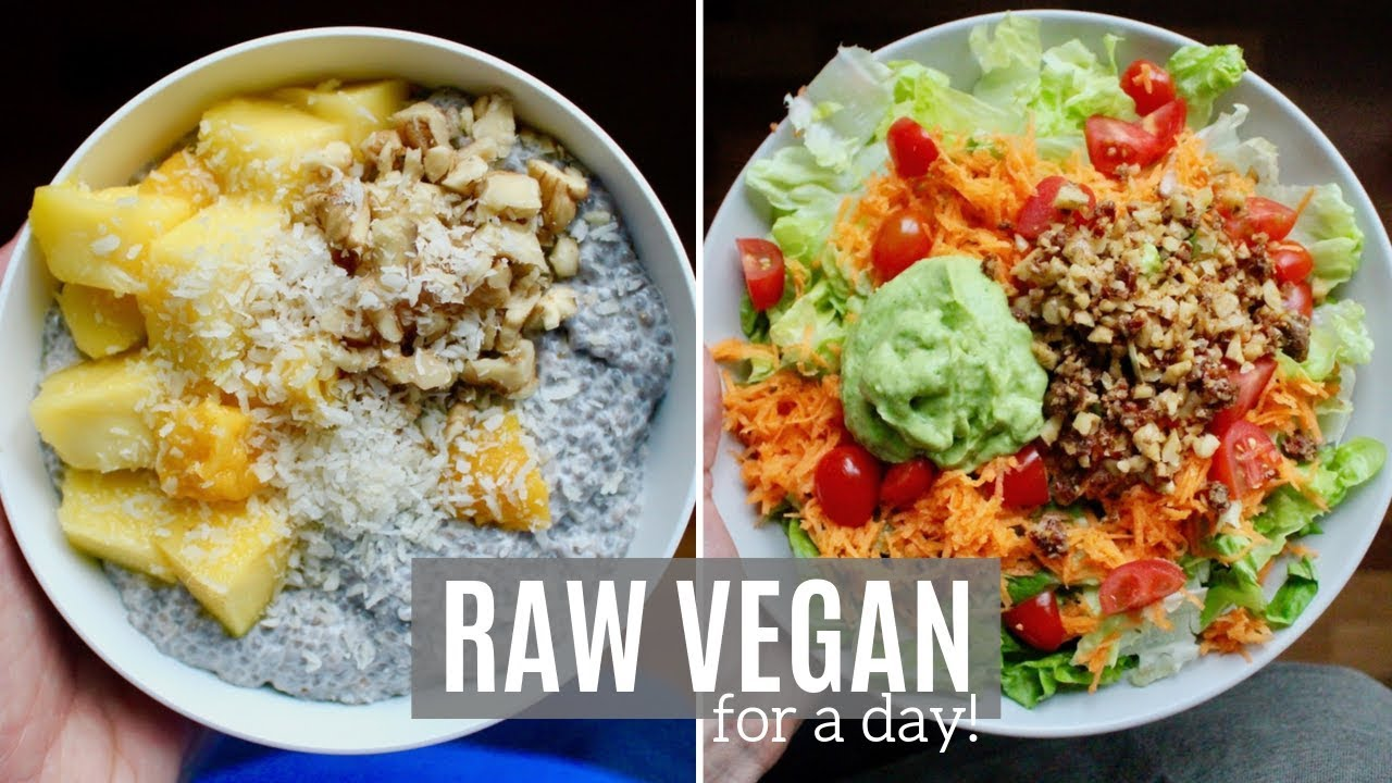 Eating A Raw Vegan Diet For A Day Healthy Plant Based Recipes Youtube