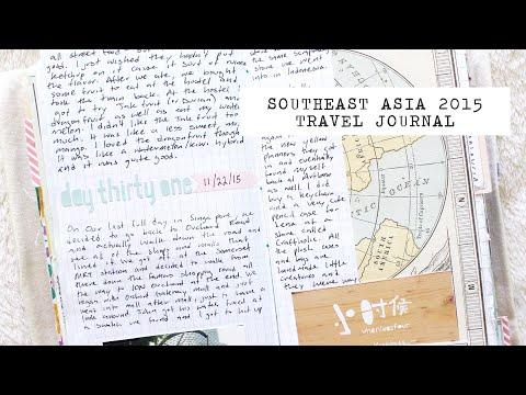 my southeast asia travel journal flipthrough