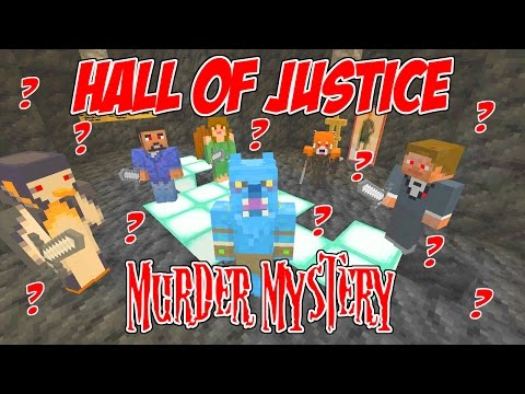 HALL OF JUSTICE MURDER MYSTERY // WHAT A MYSTERY!!! // MINECRAFT XBOX