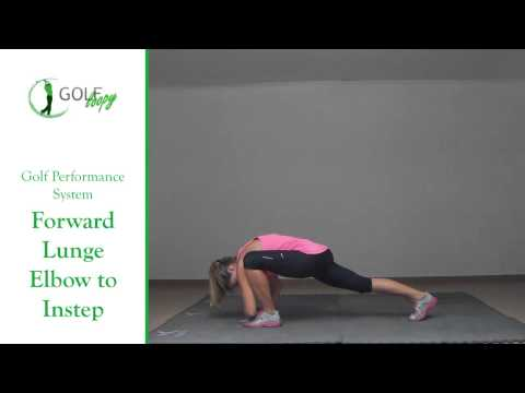 Golf Movement Preparation Exercise – Forward Lunge Elbow to Instep