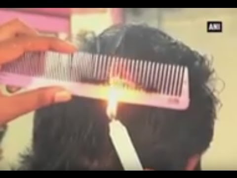 Proffesional cutting hair with fire bangalore   More Videos, News Videos, Images