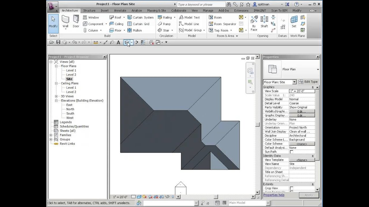 Revit Roof Edits Increasing The Overhang Youtube