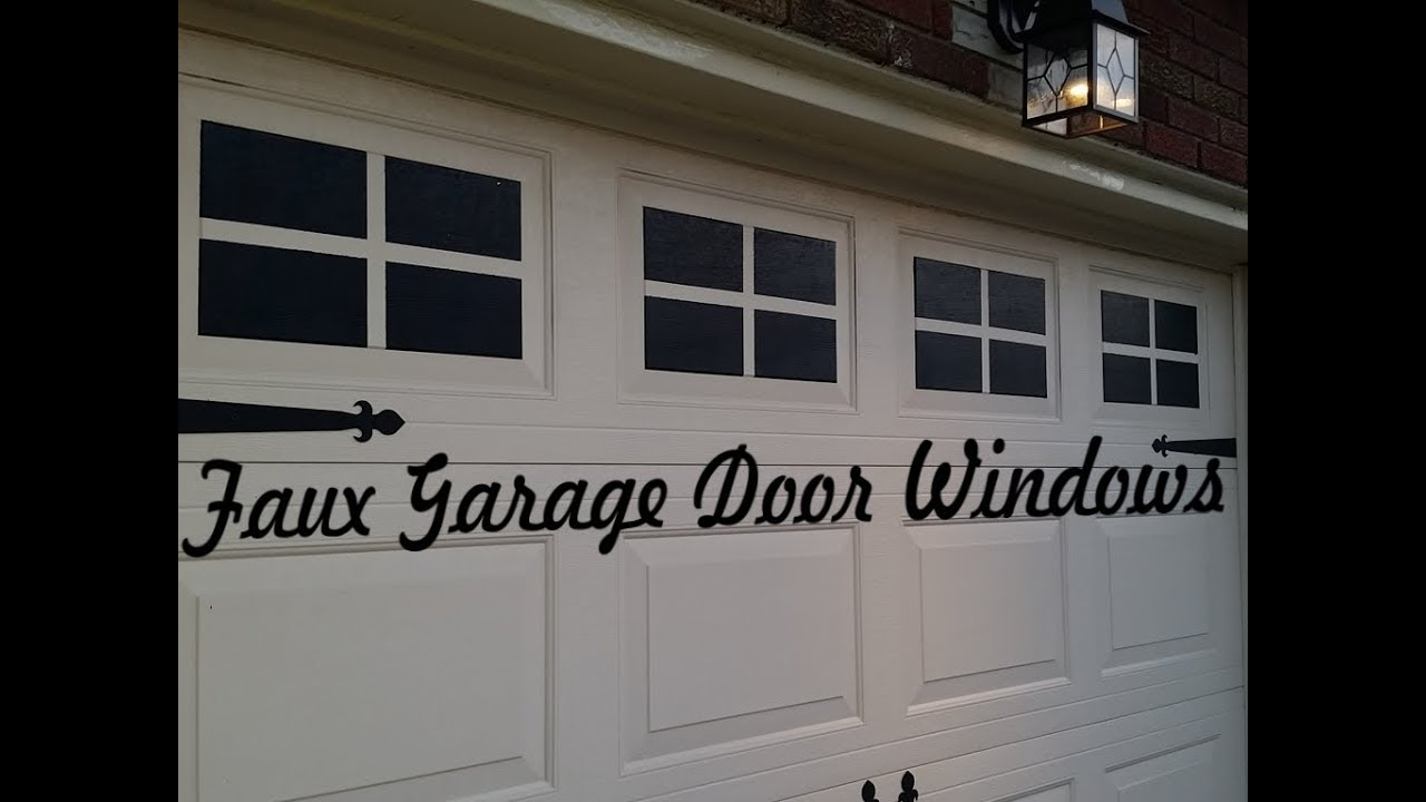 Genial Curb Appeal For $10   Faux Garage Door Windows