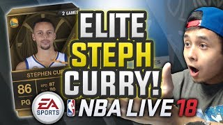 WE PULL ELITE STEPH CURRY! EARLY NBA LIVE GAMEPLAY | NBA LIVE 18