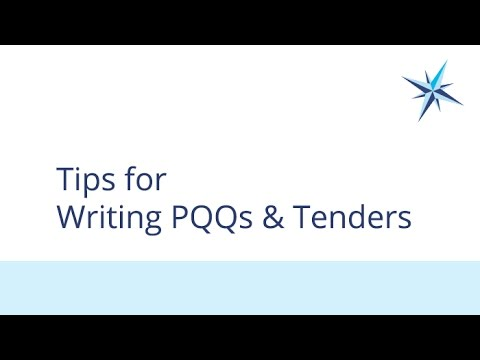 Tips for Writing PQQs and Tenders