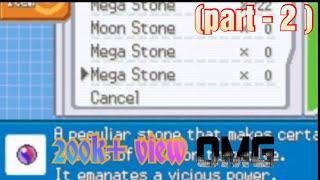 ( part - 2 ) Mega stone cheat in Pokemon fire red x |