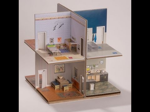 Pop up Paper house assembly