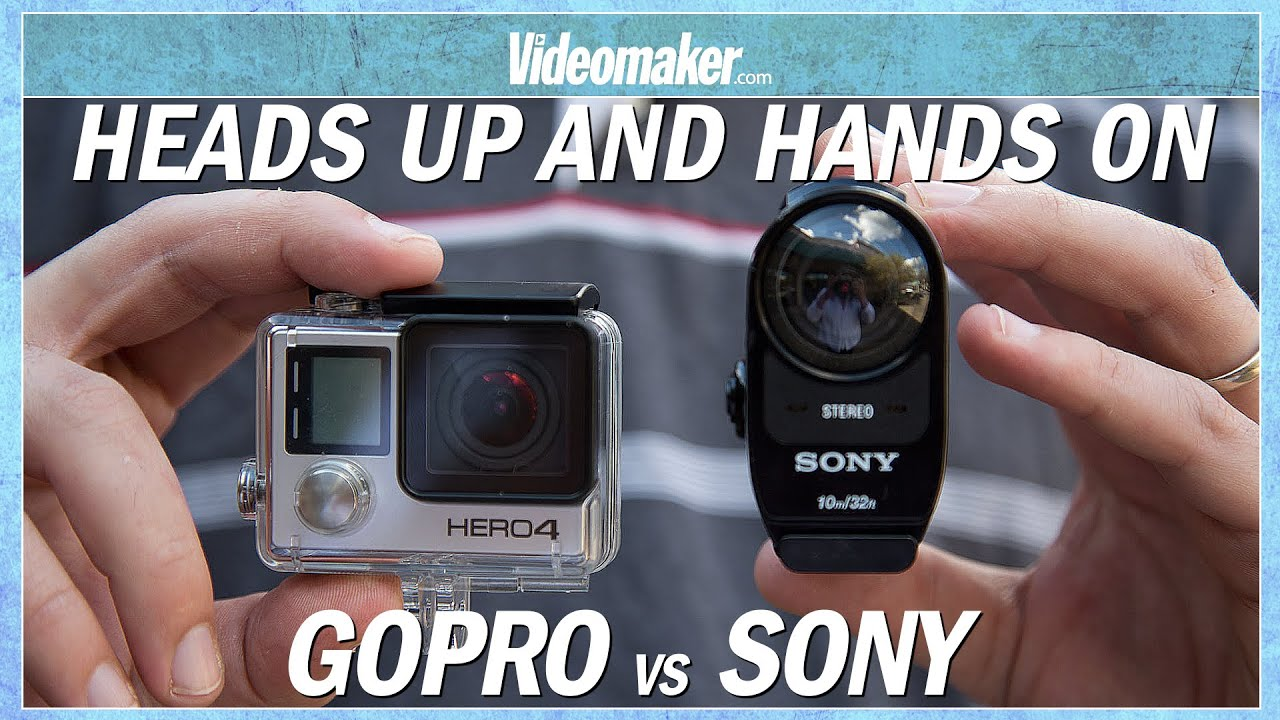 gopro hero4 black vs sony fdr x1000v 4k action cam hands. Black Bedroom Furniture Sets. Home Design Ideas
