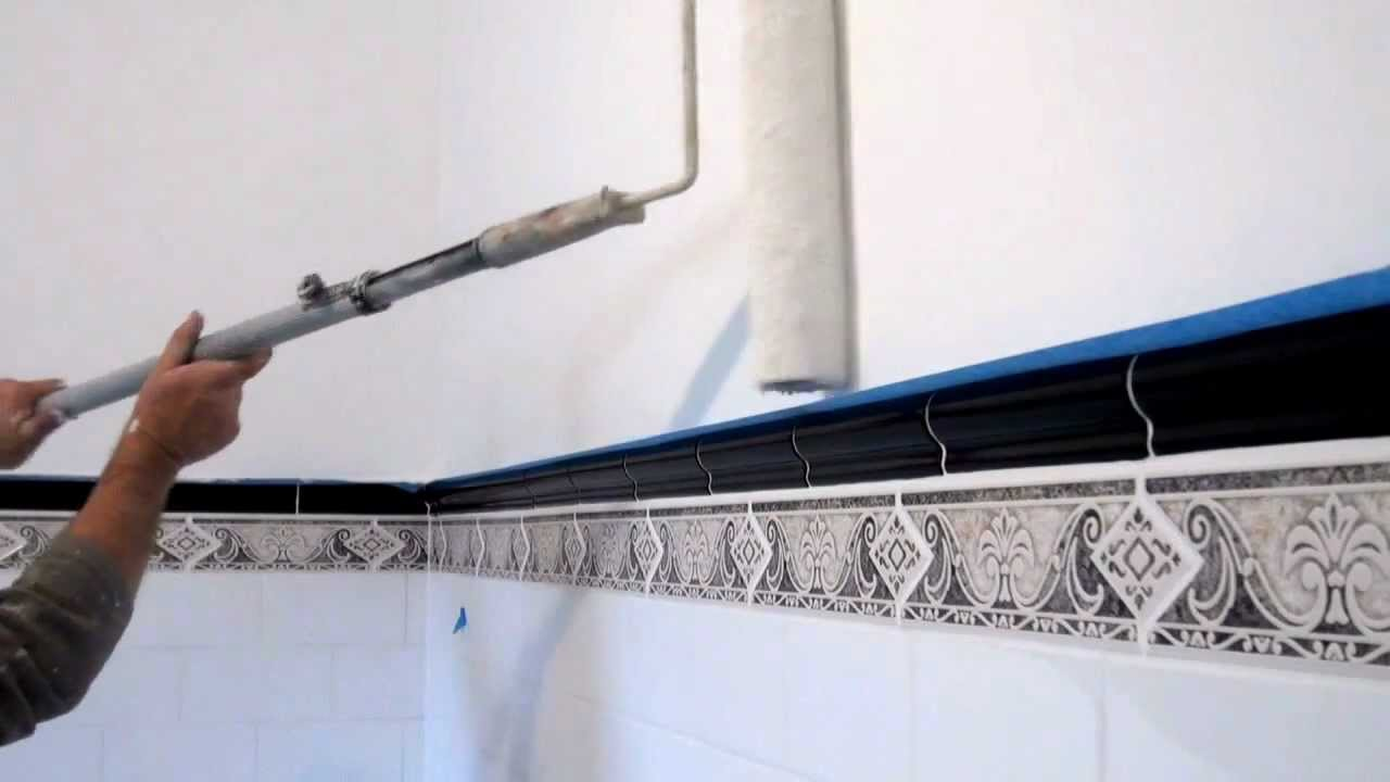 how to paint a wall a tip or technique for painting bathroom