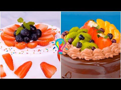 Оформление тортов в домашних условиях фруктами фото