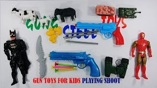 Gun Toys For Kids - Blue Color Gun Toys Playing Shoot For Kids And Son