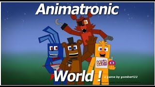Roblox Adventure: Animatronics world (FNAF)!