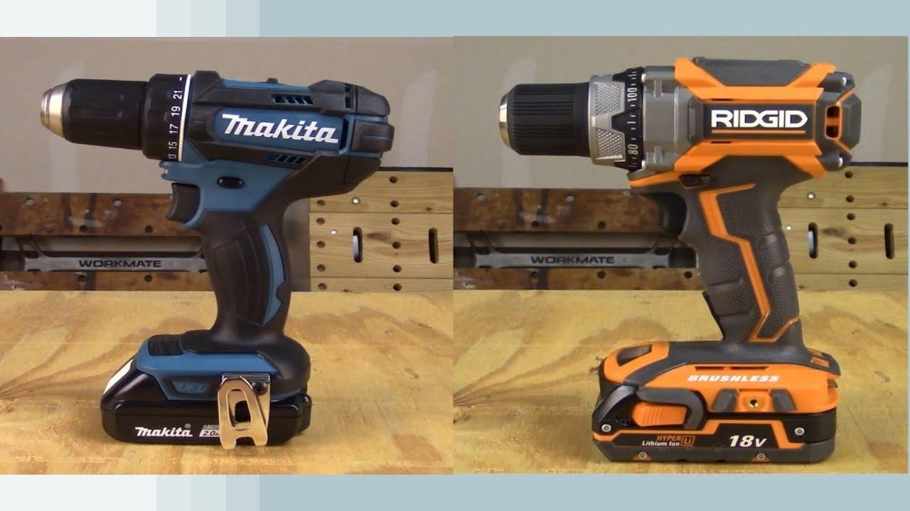 Makita Drill Vs Ridgid Comparison